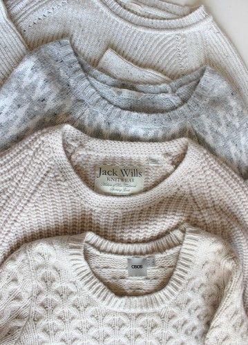 sweaters // cozy basics
