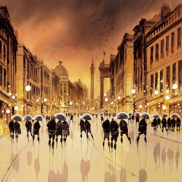Grey Street Reflections by Peter J Rodgers