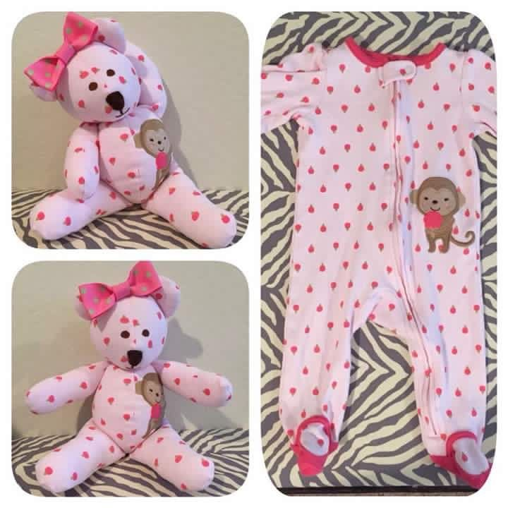 Turn their favorite Jammie's into a stuffed animal after they outgrown them ❤️