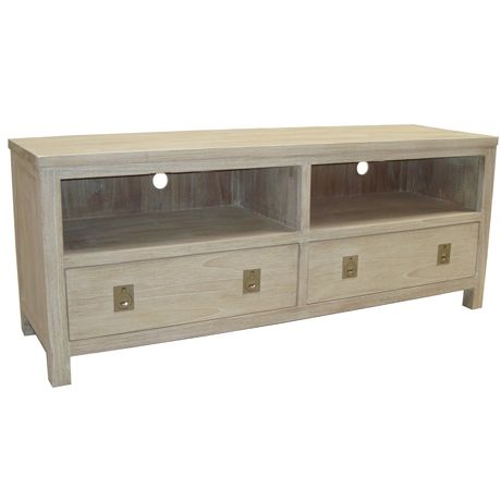 Cancun Entertainment Unit 150cm  White Wash