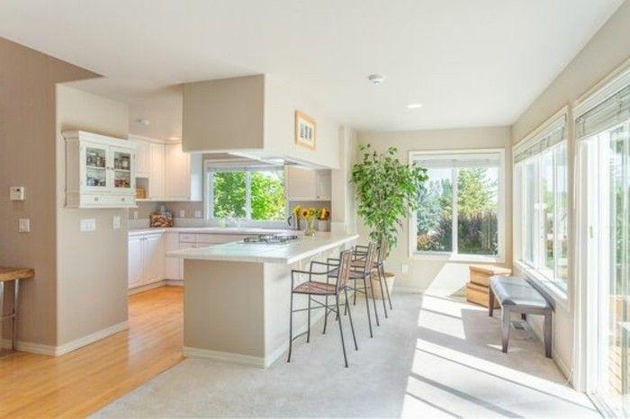 42 best modèle cuisine images on Pinterest Kitchen white, Kitchen - cuisine verte et blanche