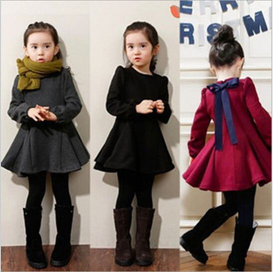 Girls winter party dress with velvet children clothing princess kid 2015 toddler girl clothing tutu child cute Christmas clothes