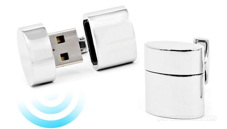 WiFi and 2GB flash drive cufflink combo