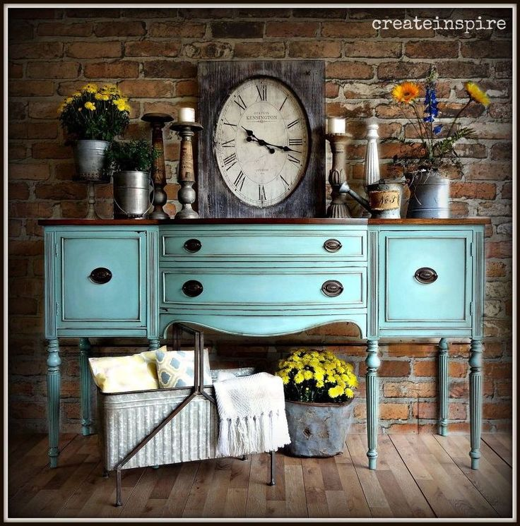 antique bow front buffet, repurposing upcycling