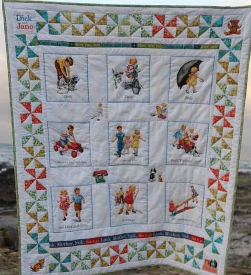 Dick and jane clothe material