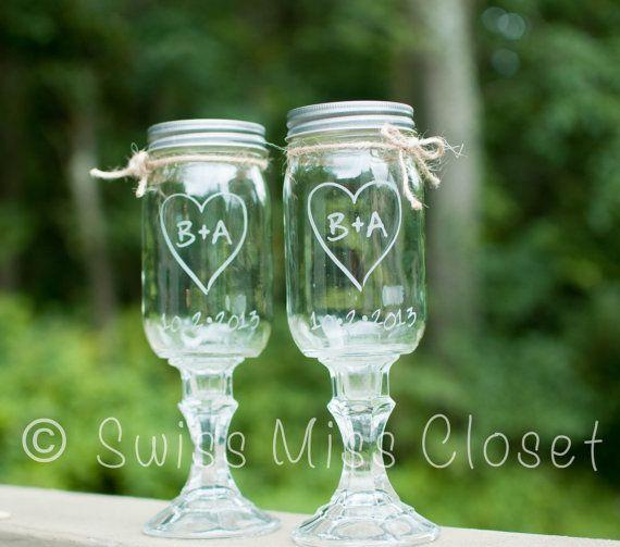 Custom Etched Set of 2  Redneck Wine Glasses by SwissMissCloset, $25.95