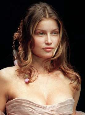 Laetitia Casta was scouted while vacationing in Corsica at age 15 and scored her first big break in ... - ERIC FEFERBERG/AFP/Getty Images