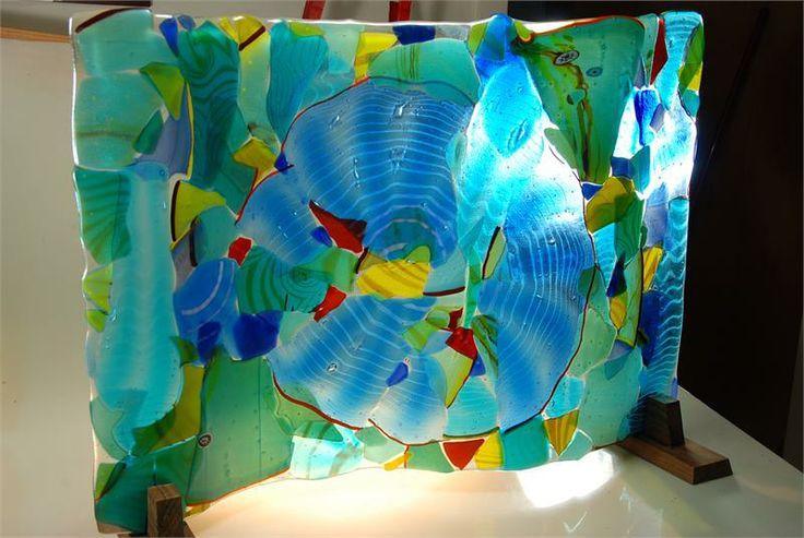 Sculpture hand blown glass by artist rick strini, Adventures in Paradise Aquarium