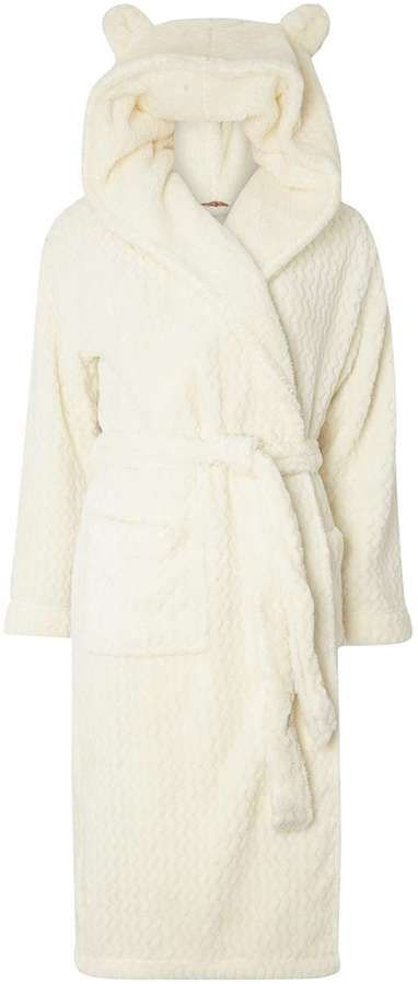 Cream dressing gown with ears
