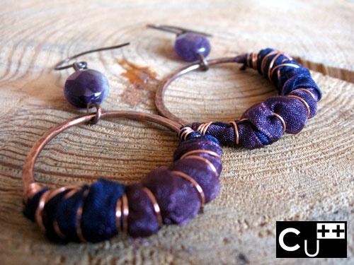 """""""Organza"""": handmade copper earrings by aes Cyprium"""