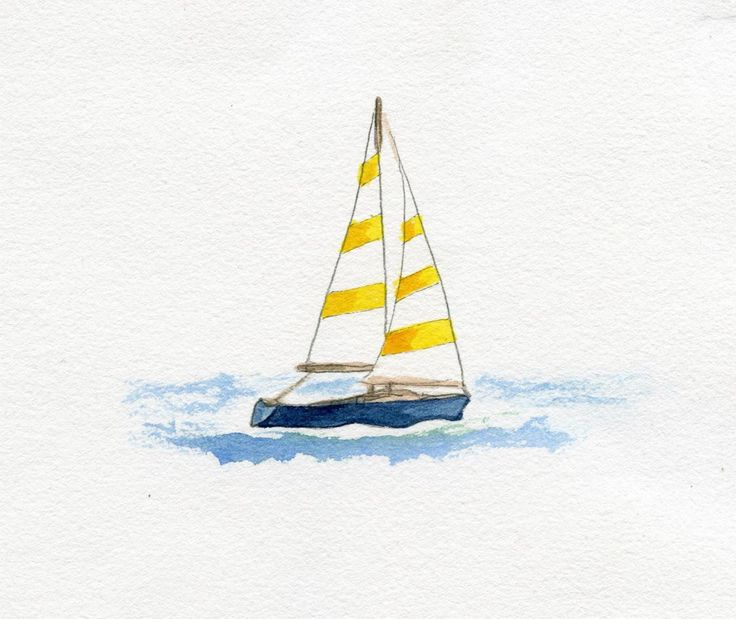 Sailboat. | simple watercolor | Pinterest | Boating ...