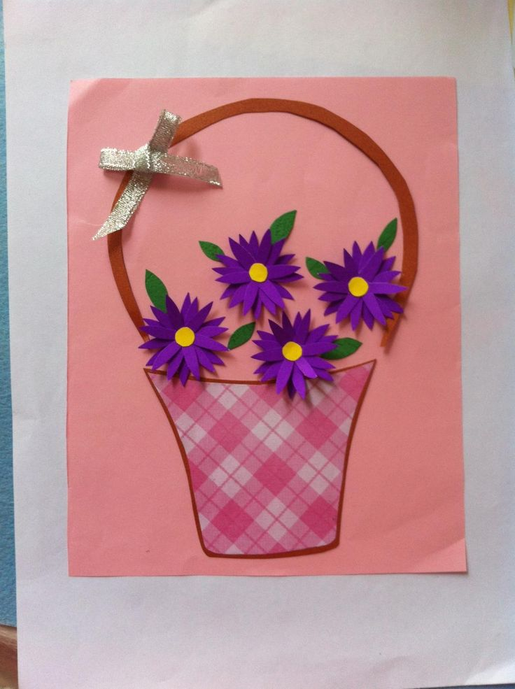 DIY Mother's Day Flower Artwork Gift