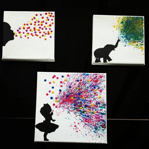 Geschmolzene Crayon Kunst Girl Blasen von TreatYourselfCrafty (Vintage Diy Crafts)