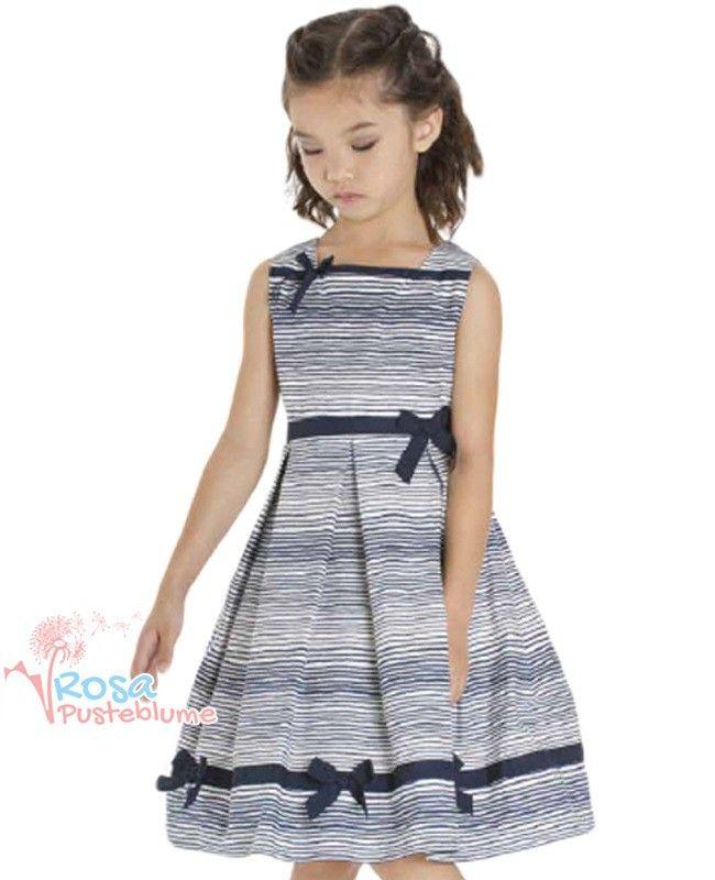 Kate Mack Kleid stripe blue bow