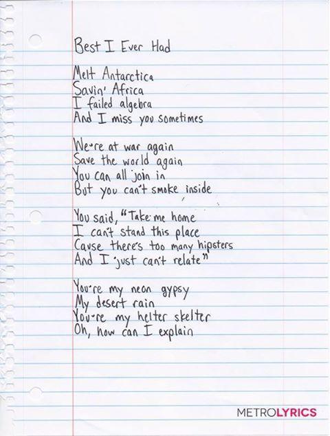 D Best Song Ever Lyrics Gavin DeGraw shared hi...