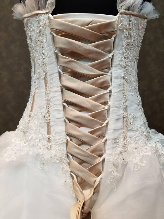 Pin By Kitty Katbaby On Vestidos Steampunk Wedding Dress Wedding Dress Champagne Rustic Wedding Dresses