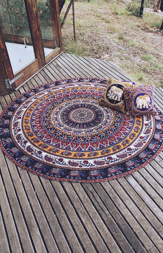 By The Moon - Scorpius Mandala Throw - Round | New Arrivals | Peppermayo