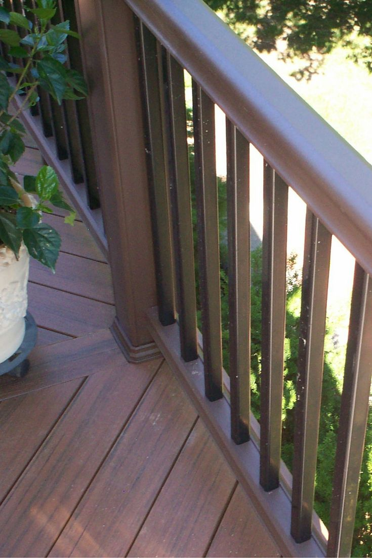 timbertech radiance railing and pvc decking - Porch Railing
