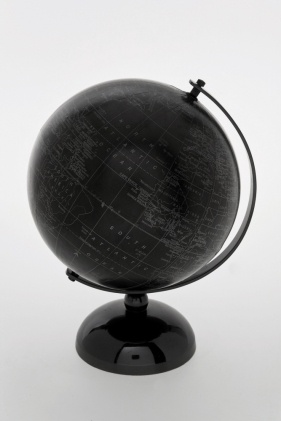 Color Negro - Black!!! Black metal globe