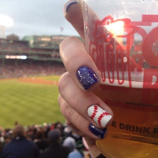 Baseball nails. But I would do my nails red instead of blue