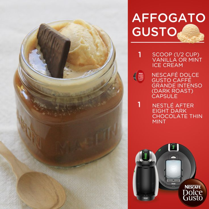 Dolce Gusto Affogato – Simple and delicious! Make this recipe using the Nescafe Dolce Gusto Circolo by DeLonghi, which is a stylish multi-beverage single-serve system that allows you to make authentic, gourmet-quality coffees, lattes, cappuccinos, iced drinks and more.