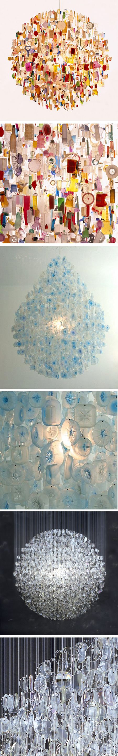 """stuart_haygarth - So beautiful, such a clever way of """"up-cycling"""" rubbish - love it!        So Cool!!"""