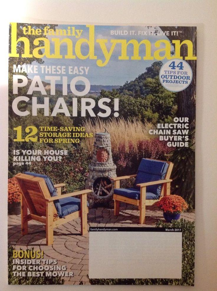 Best 25 handyman magazine ideas on pinterest family handyman the family handyman magazine march 2017 patio chairs storage ideas solutioingenieria Images