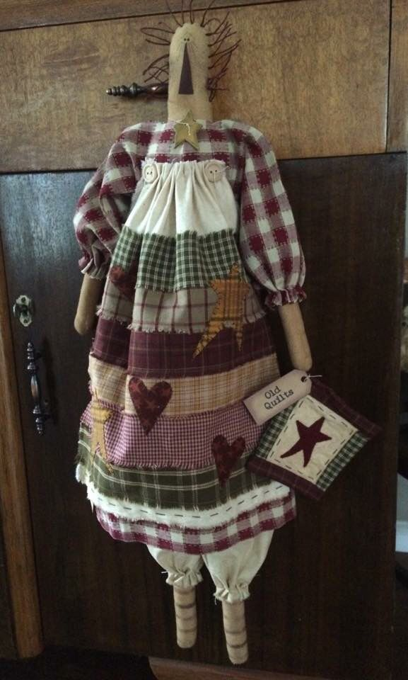 Quilting Annie, with patchwork apron