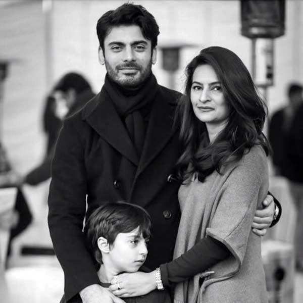 Fawad Khan with wife Sadaf and son Ayaan Khan