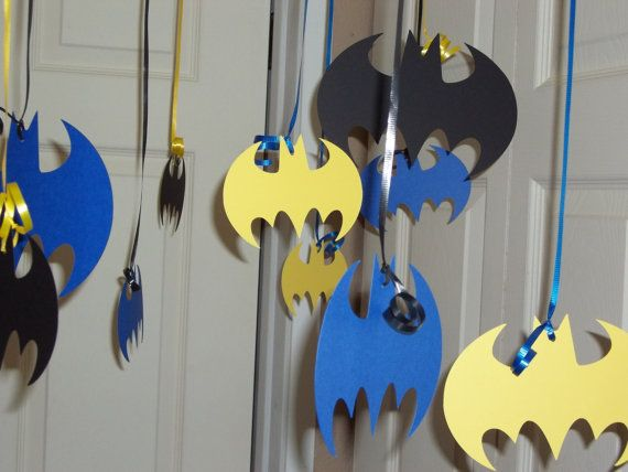 Ceiling Decorations Made with Batman Cricut Cartridge
