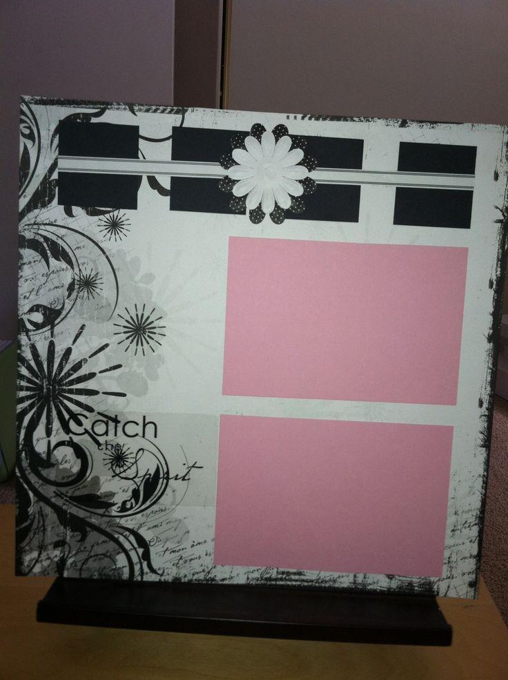 Creative Memories scrapbook page. Black & white power palette