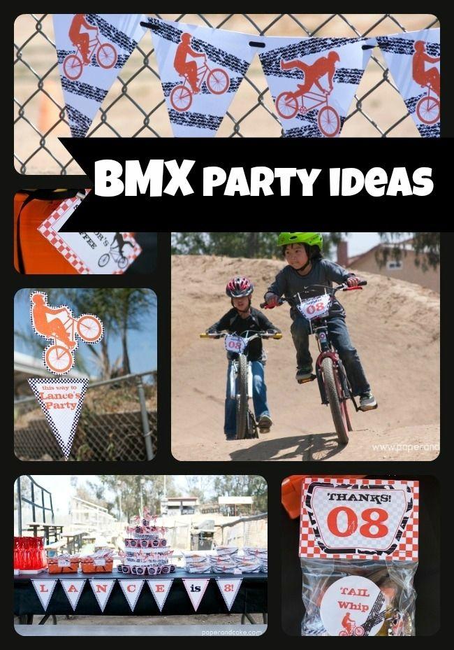 BMX Bike Birthday Party Ideas http://spaceshipsandlaserbeams.com/blog/2013/07/party-central/bmx-bike-birthday-party-ideas