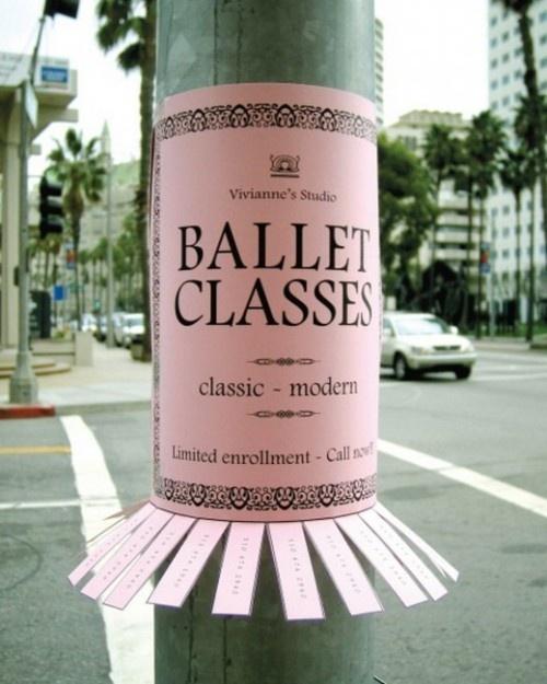 Street marketing - ballet classes