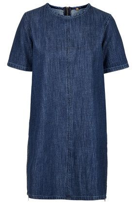 UGH!! I got this dress and had to exchange for a bigger size... Of course they are sold out. So sad!! MOTO Indigo Wash T-Shirt Dress
