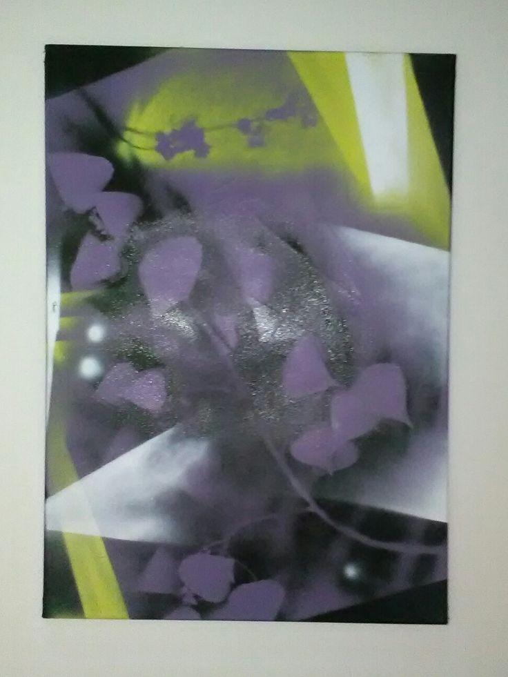 Astratto fiori viola