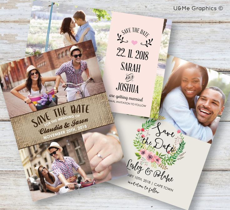Photo save the date cards, save the date cards, digital save the date cards, printable save the date cards | U&Me Graphics