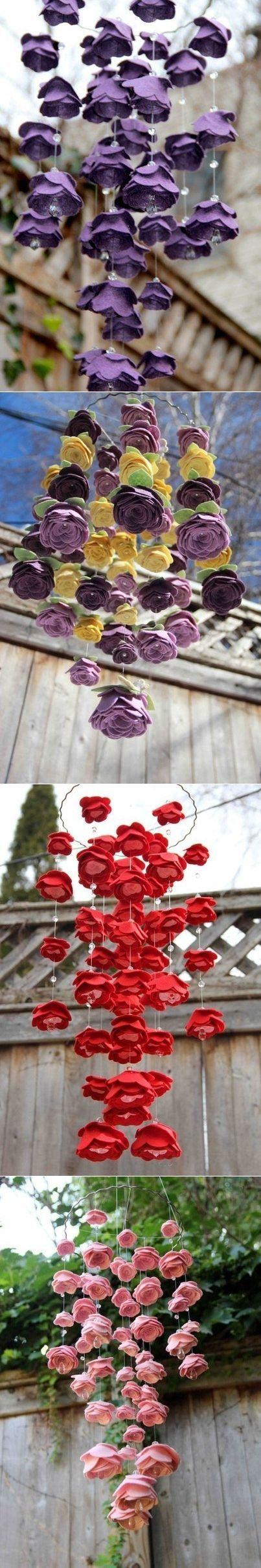 Мобиль с фетровыми цветочками. Идеи ...♥ Deniz ♥