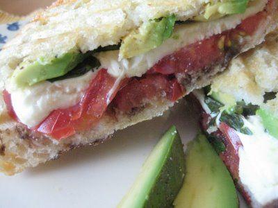 Bountiful Kitchen: Pressed Mozzarella, Tomato and Fresh Basil Sandwich ...