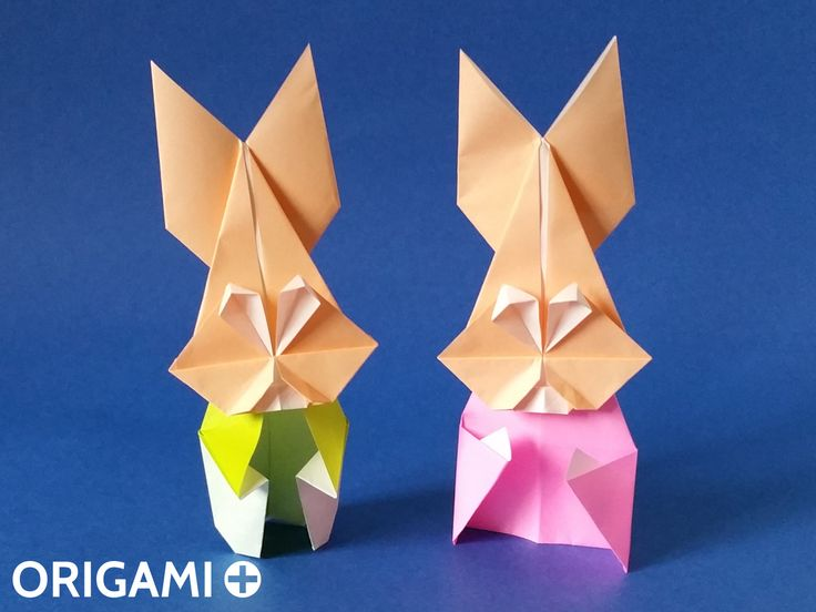 how to make origami bunny face