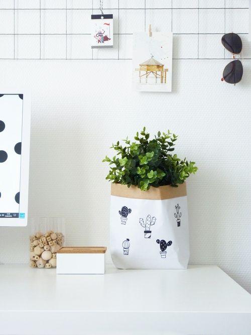 tuto r aliser un sac de rangement en papier par black confetti tutos diy pinterest. Black Bedroom Furniture Sets. Home Design Ideas