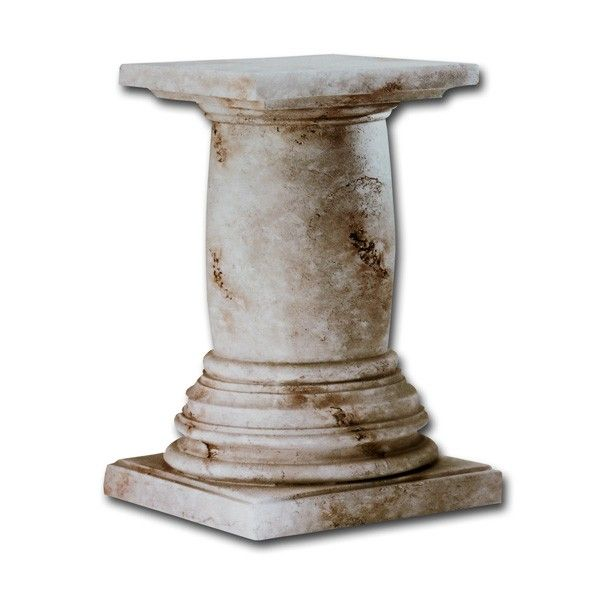 Faux Stone Pedestal Dining Table Base