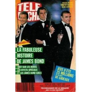 James Bond : sa fabuleuse histoire - Tout sur les héros, les effets spéciaux et les James Bond girls, dans Télé Poche (n°1226) du 07/08/1989 [couverture et article mis en vente par Presse-Mémoire]