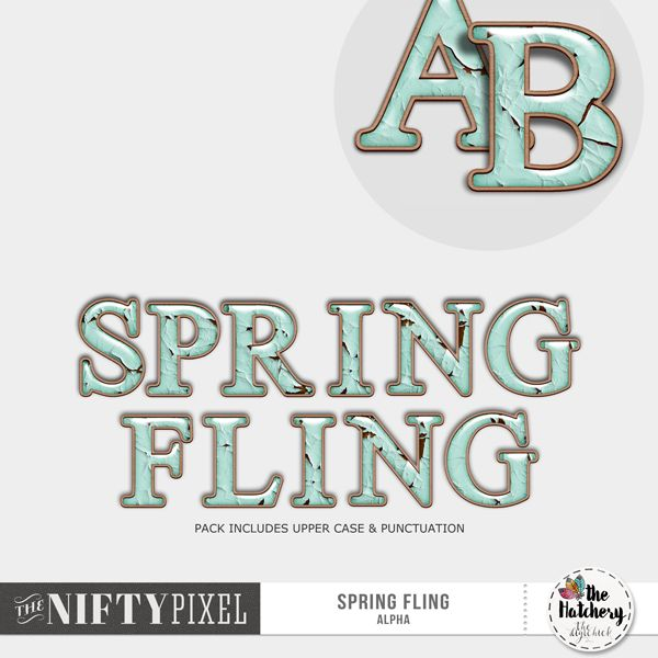 SPRING FLING | Alpha Add a touch of old world charm with this peeled paint style alpha set in resin and bordered by wood. It's a perfect match for all your spring projects and pairs beautifully with heritage/vintage and shabby-esque inspired pages.   DOWNLOAD INCLUDES:  1X Alpha Includes [A-Z] + [Punctuation] 1X Alpha sheets for easy cutting.