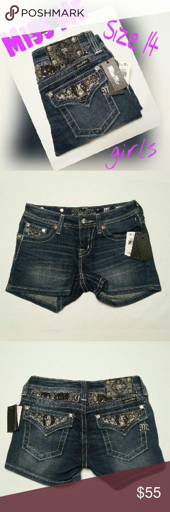 MISS ME GIRLS EMBELLISHED SHORTS SZ 14 Brand new. SUPER CUTE. MISS ME Shorts Jean Shorts