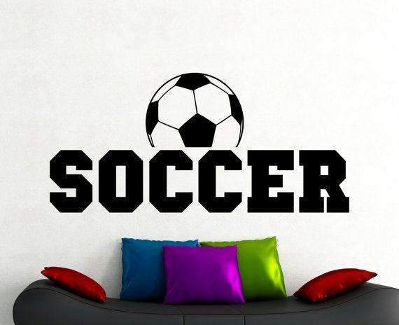Wall Decor Living Room Decor camera per bambini decorazione sport sala Design Art di Sport: calcio Sticker calcio Vinyl Stickers murali 4engmc