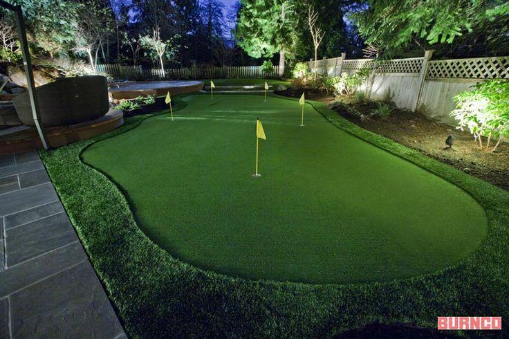 Backyard #golf putting green #BURNCO #bellaturf
