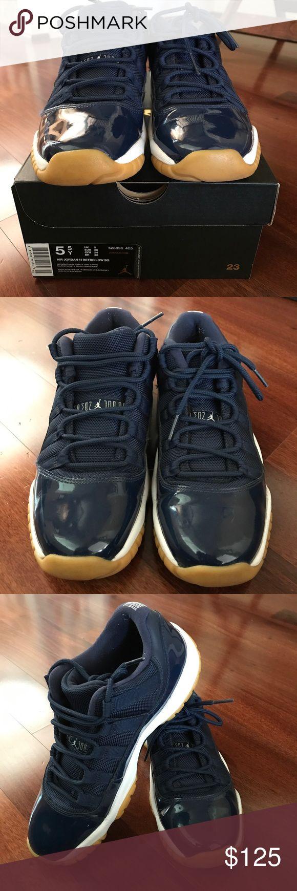 Air Jordan 11 Retro Low BG (size 5.5Y) Very good condition. Size 5.5Y (38 EUR). Midnight navy/white/gumsole. Air Jordan Shoes Sneakers