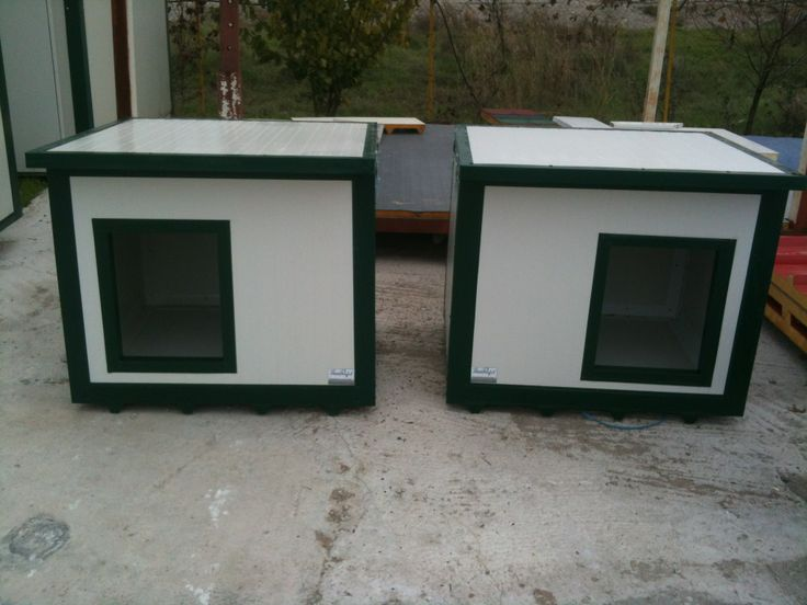 2 flat deck houses for dogs. Nice and compact