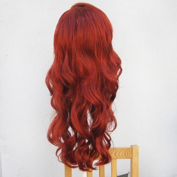 Ariel Little Mermaid Custom Adult Costume Wig A True Enchantment... ($300) ❤ liked on Polyvore