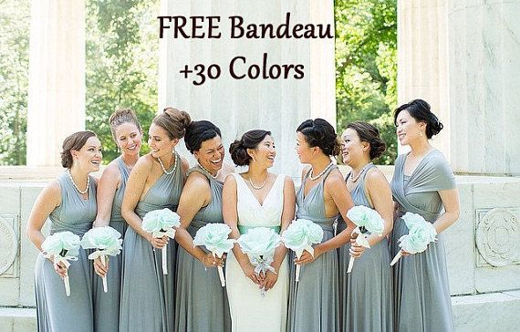 a1ae4eb99a Silver Gray Bridesmaid dress